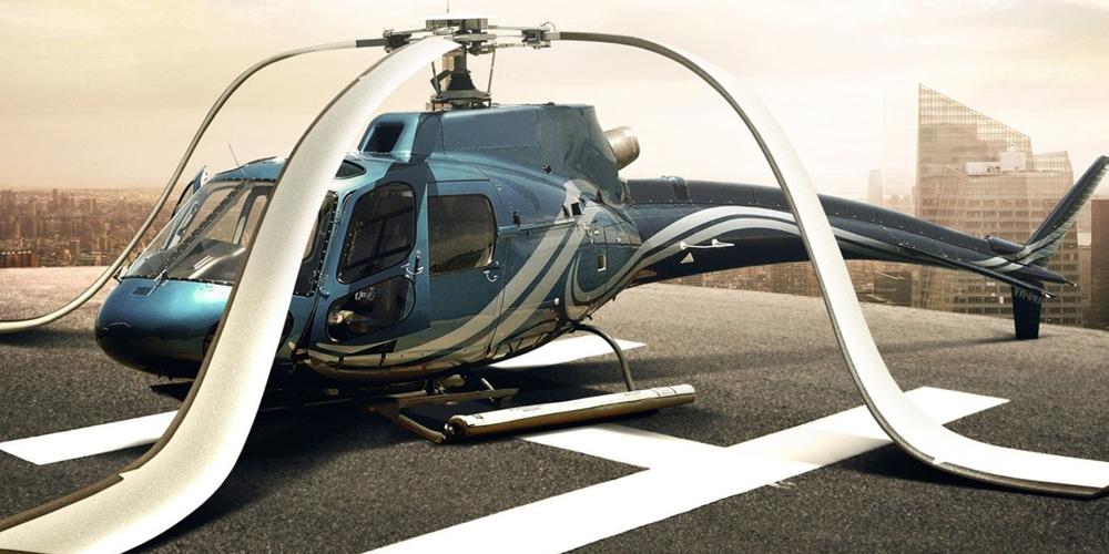 В Казахстане военный вертолет сел посреди автомобильной трассы